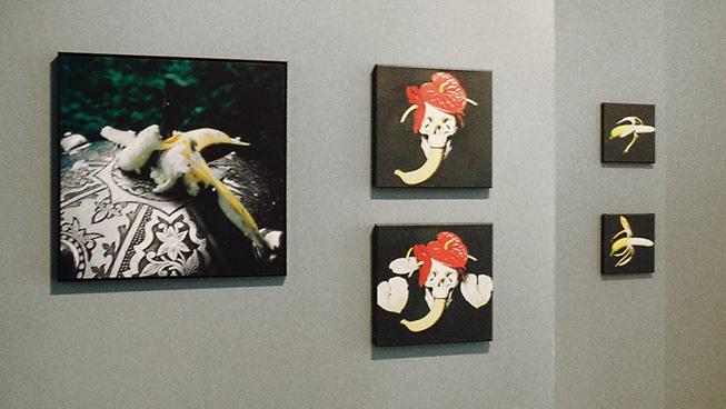 SCHIELD 1995, SKULL IV 1995, SKULL I 1995, Banana I, 1995/2009, Banana III, 1995/2009