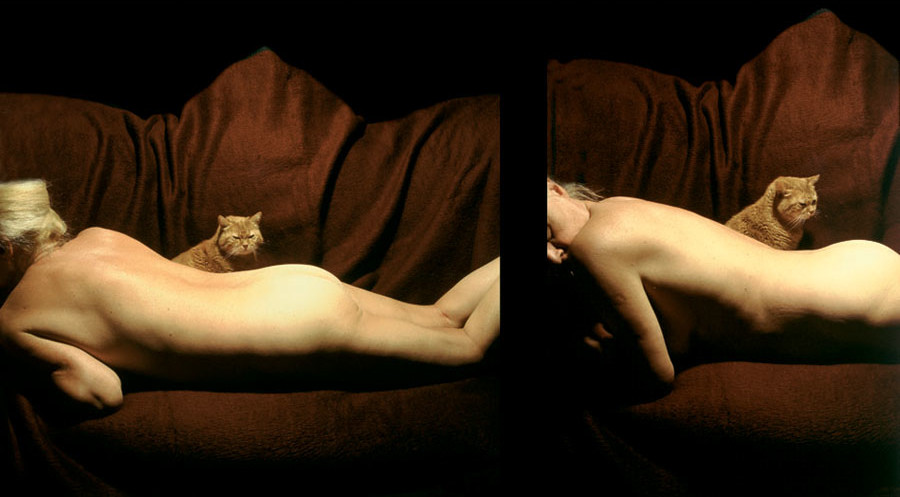 THE NAKED NATALIA AND THE CAT 2000